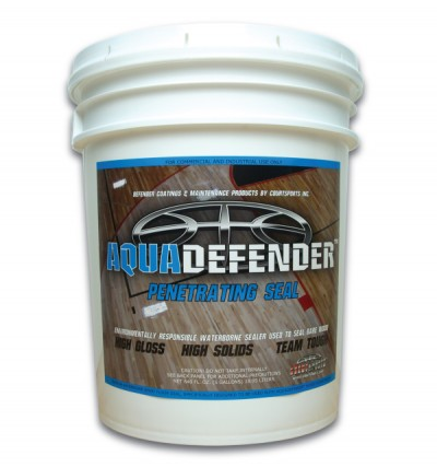 AQUADEFENDER BASKETBALL COURT FLOOR SEALER WATERBORNE SEAL FOR HARDWOOD GYM FLOORS