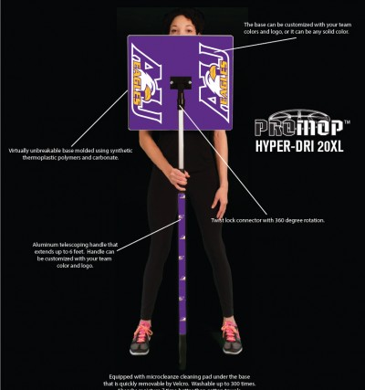 promop hyper-dri 20xl product details basketball mop with custom logo