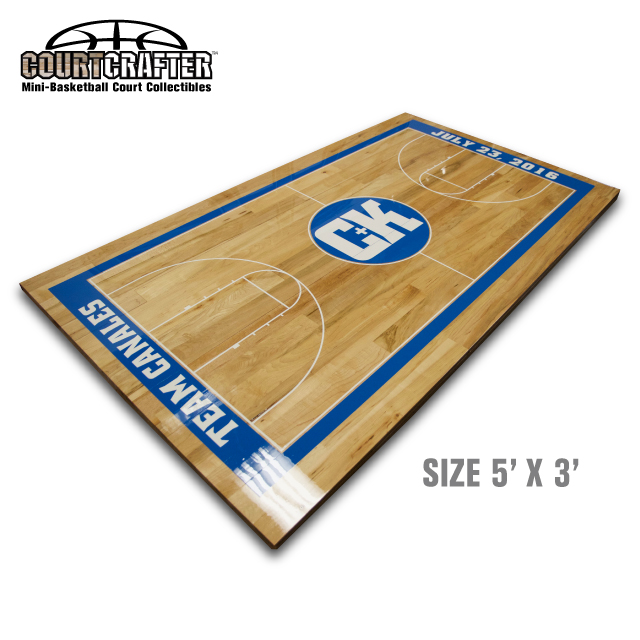 Courtcrafter mini basketball court collectibles for Built in basketball court