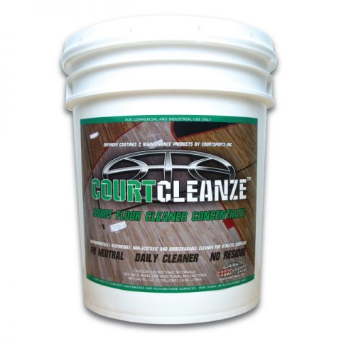 COURTCLEANZE BASKETBALL GYM FLOOR CLEANING SOLUTION USED TO KEEP GYM FLOORS TRACTION TIGHT AND OFTEN USED TO MAKE SLIPPERY FLOORS HAVE TRACTION