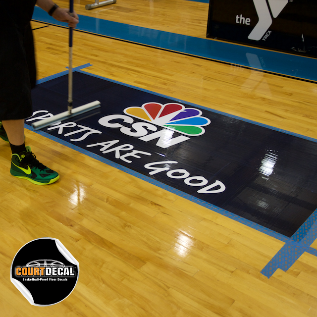 COURTDECAL BASKETBALL PROOF COURT FLOOR DECAL KITS THAT MEET NEW NCAA RULES  FOR SLIP RESISTANCE AND