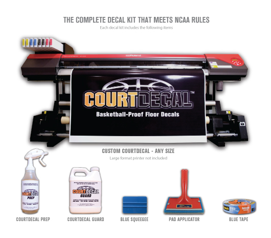 COURTDECAL BASKETBALL-PROOF FLOOR DECALS
