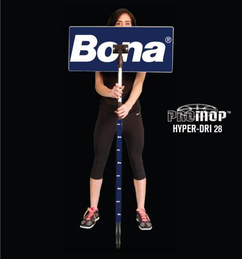 Promop Hyper-Dri 28 custom basketball mop with team logo