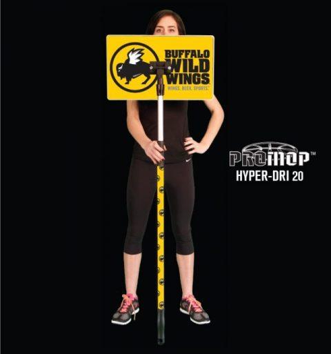 Promop Hyper-Dri 20 customized basketball mop for wiping sweat