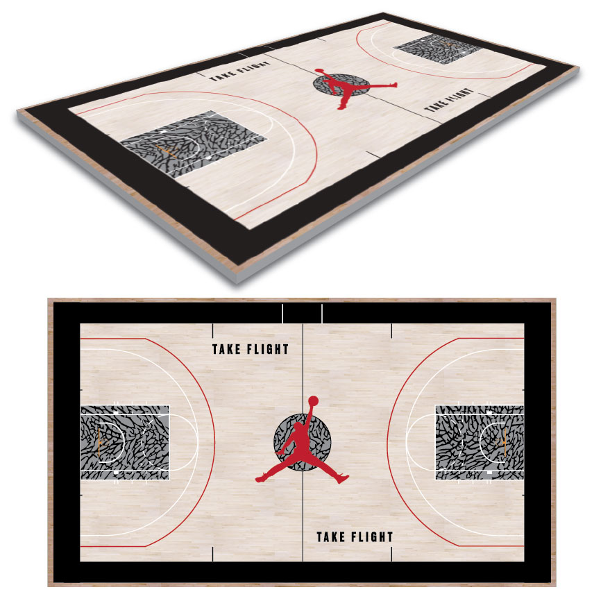 Basketball Court Logo Design